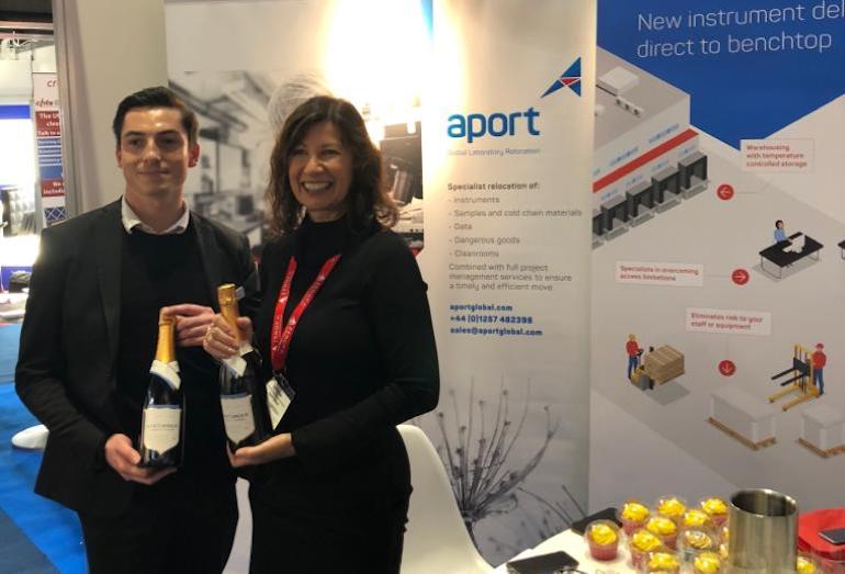 Aport named most engaging stand at Lab Innovations 2019